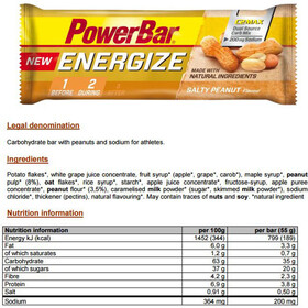 PowerBar New Energize Riegel Box Salty Peanut 25 x 55g